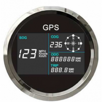 GPS Speedometer 85-mm with working compass works in MPH, KPH, or Knots Black Face